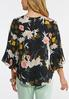 Plus Size Blooms And Bell Sleeve Top alternate view