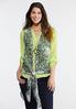 Plus Size Lime Animal Print Vest alternate view