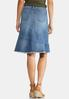 Plus Size Fringed Denim Skirt alternate view
