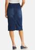 Plus Size Button Pocket Denim Skirt alternate view