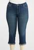 Plus Size Cropped Crystal Pocket Jeans alternate view