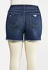 Plus Size Crochet Pocket Denim Shorts alternate view