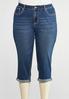 Plus Size Cropped Embellished Pocket Jeans alternate view