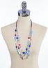 Beaded Layered Cord Necklace alternate view