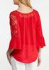 Lace Trim Bell Sleeve Top alternate view
