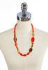 Orange Multi Long Bead Necklace alternate view
