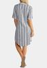 Plus Size Linen Striped Shirt Dress alternate view