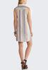 Plus Size Stripe Linen Shirt Dress alternate view