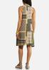 Plus Size Patchwork Mock Neck Dress alternate view