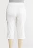Plus Size Cropped Silver Button Pants alternate view
