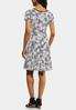 Plus Size Piped Puff Floral Dress alternate view