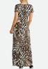 Seamed Animal Print Maxi Dress alternate view