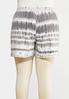 Plus Size Drawstring Tie Dye Shorts alternate view