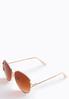 Rose Gold Glam Sunglasses alternate view