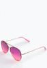 Pink Ombre Aviator Sunglasses alternate view
