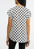 Plus Size Polka Dot Beaded Keyhole Top alternate view
