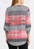 Plus Size Mod Stripe Pullover Top alternate view