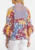 Plus Size Mixed Floral Kimono alternate view