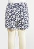 Plus Size Jacquard Floral Shorts alternate view