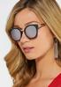 Black Matte Mirrored Sunglasses alternate view