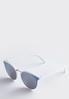 White Mirrored Sunglasses alternate view