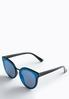 Blue Lens Mirrored Sunglasses alternate view