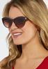 Brown Tinted Cateye Sunglasses alternate view