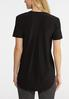 Solid Notched V- Neck Top alternate view