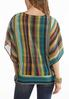 Plus Size Rainbow Chevron Capelet alternate view