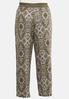 Plus Size Gauzy Olive Medallion Pants alternate view