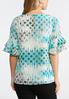 Plus Size Ruffle Sleeve Dotted Top alternate view