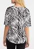 Zebra Crochet Slit Sleeve Top alternate view