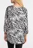 Plus Size Zebra Crochet Slit Sleeve Top alternate view