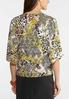 Plus Size Mixed Print Button Up Top alternate view
