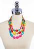 Color Pop Layered Necklace alternate view