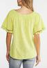 Plus Size Off The Shoulder Tasseled Top alternate view