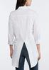 Split Hem White Poplin Shirt alternate view