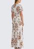 Plus Size Ivory Floral Maxi Dress alternate view