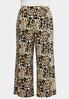 Plus Size Breezy Leopard Palazzo Pants alternate view