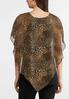 Plus Size Leopard Embellished Capelet alternate view