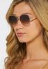 Textured Brow Bar Aviator Sunglasses alternate view