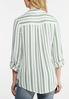 Plus Size Neon Stripe Linen Shirt alternate view
