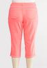 Plus Size Curvy Cropped Neon Cuffed Pants alternate view