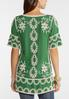 Plus Size Embroidered Bohemian Tunic alternate view