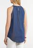 Plus Size Denim Embroidered Cleo Tank alternate view