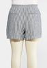 Plus Size Nautical Stripe Linen Shorts alternate view