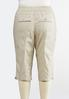 Plus Size Poplin Cargo Cropped Pants alternate view