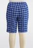 Plus Size Plaid Bermuda Shorts alternate view