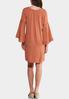 Plus Size Lace Trim Peasant Dress alternate view