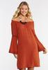 Plus Size Lace Trim Peasant Dress alt view